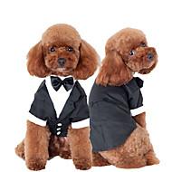 Mačka Pas Szmoking Odjeća za psa Mašna Crn Pamuk Kostim Za kućne ljubimce Muškarci Slatko Cosplay Vjenčanje