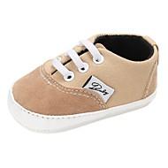 baratos Sapatos de Menina-Para Meninos / Para Meninas Sapatos Lona Primavera & Outono / Inverno Conforto / Primeiros Passos Rasos Cadarço para Bebê Azul / Rosa claro / Khaki