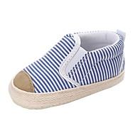 baratos Sapatos de Menino-Para Meninos / Para Meninas Sapatos Lona Primavera & Outono / Inverno Conforto / Primeiros Passos Botas Elástico para Bebê Cinzento / Azul / Listrado