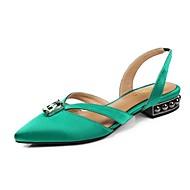 baratos Sapatos Femininos-Mulheres Sapatos Confortáveis Cetim Primavera Verão Saltos Salto de bloco Preto / Vermelho / Verde
