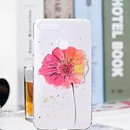 billiga Mobil cases & Skärmskydd-fodral Till Huawei Honor 7A / Honor 7C(Enjoy 8) Genomskinlig / Mönster Skal Blomma Mjukt TPU för Huawei Honor 10 / Honor 9 / Huawei Honor 9 Lite