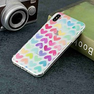 billiga Mobil cases & Skärmskydd-fodral Till Apple iPhone XR / iPhone XS Max Genomskinlig / Mönster Skal Hjärta Mjukt TPU för iPhone XS / iPhone XR / iPhone XS Max