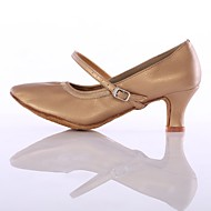 billige Moderne sko-Dame Moderne sko Fuskelær Høye hæler Tvinning Kubansk hæl Kan spesialtilpasses Dansesko Brun / Ytelse / Trening