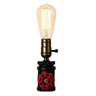billige Lamper-vintage vannrør bordlampe industriell smijern med e26 / e27 edison base retro loft dekorasjon for stue nattbord lampe med bryter