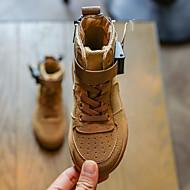 baratos Sapatos de Menino-Para Meninos / Para Meninas Sapatos Couro Ecológico Primavera & Outono / Primavera Verão Conforto / Botas da Moda Botas Caminhada Presilha / Cadarço para Infantil Preto / Amarelo / Fúcsia
