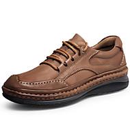 baratos Sapatos Masculinos-Homens Sapatos formais Pele Napa Outono Clássico / Formais Oxfords Massgem Preto / Marron / Festas & Noite