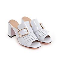 Naisten Comfort-kengät Mikrokuitu Kevät Sandaalit Paksu korko Musta / Tumman sininen / Punainen