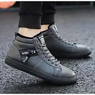 Homens Sapatos Confortáveis Microfibra Inverno Tênis Preto / Cinzento
