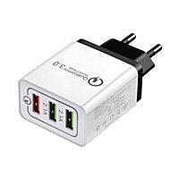 Chargeur Portable Chargeur USB Prise UE Sorties Multiples / QC 3.0 3 Ports USB 2.4 A DC 12V-24V pour S9 / S8 / S7