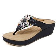baratos Sapatos Femininos-Mulheres Sapatos Confortáveis Couro Ecológico Verão Sandálias Salto Plataforma Preto / Vermelho / Azul