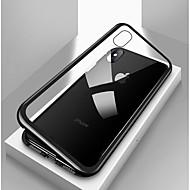 رخيصةأون أغطية أيفون-غطاء من أجل Apple iPhone X / إفون 8 / iPhone 8 Plus ضد الصدمات / شفاف / مغناطيس غطاء كامل للجسم لون سادة قاسي زجاج مقوى / معدن إلى iPhone X / iPhone 8 Plus / iPhone 8