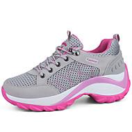 baratos Sapatos Femininos-Mulheres Com Transparência / Sintéticos Primavera & Outono Esportivo / Casual Tênis Fitness Salto Plataforma Cinzento / Roxo / Fúcsia