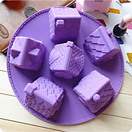 1pc เจลซิลิโคน Gadget ครัวสร้างสรรค์ Kitchen สี่เหลี่ยมผืนผ้า เครื่องมือของหวาน เครื่องมือ Bakeware