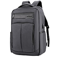 billige Computertasker-Nylon Laptoptaske Lynlås Sort / Mørkeblå / Grå