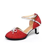 billige Moderne sko-Dame Moderne sko Syntetisk Sandaler Kubansk hæl Kan spesialtilpasses Dansesko Sølv / Rød / Blå