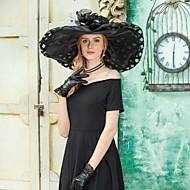 Organza Kentucky Derby Hat / Καπέλα με Λουλούδι / Πουά 1pc Causal / Καθημερινά Ρούχα Headpiece