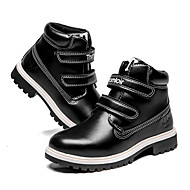 baratos Sapatos de Menina-Para Meninos / Para Meninas Sapatos Couro Ecológico Inverno / Outono & inverno Coturnos Botas Caminhada Velcro para Adolescente Preto / Café / Botas Curtas / Ankle