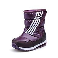 baratos Sapatos de Menina-Para Meninos / Para Meninas Sapatos Couro Ecológico Inverno / Outono & inverno Botas de Neve Botas Caminhada Combinação para Adolescente Azul Escuro / Roxo / Vermelho Escuro / Botas Cano Médio