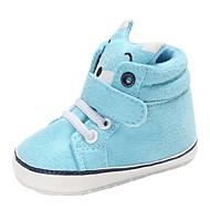 baratos Sapatos de Menino-Para Meninos / Para Meninas Sapatos Algodão Primavera & Outono / Inverno Conforto / Primeiros Passos Botas Cadarço / Velcro para Bebê Marron / Azul / Rosa claro