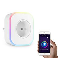 tanie Inteligentny dom-Gniazdko Przygaszanie / Nowy design / Nowoczesne 1 opakowanie ABS + PC Z wtyczką Aktywacja dźwiękiem / Wi-Fi włączone / APP Amazon Alexa Echo / Asystent Google / Inteligentne urządzenie Xiaomi