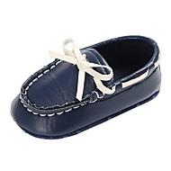 baratos Sapatos de Menino-Para Meninos / Para Meninas Sapatos Couro Ecológico Primavera & Outono / Inverno Conforto / Primeiros Passos Rasos Laço / Cadarço para Bebê Branco / Preto / Azul