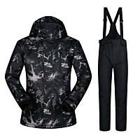 Homme Veste & Pantalons de Ski Pare-vent, Etanche, Garder au chaud Ski / Camping / Randonnée / Snowboard 100 % Polyester Coupe-vent / Pantalon de bavoir de neige Tenue de Ski