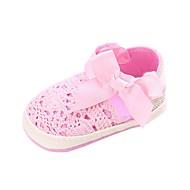 baratos Sapatos de Menino-Para Meninos / Para Meninas Sapatos Tecido elástico Primavera & Outono Conforto / Primeiros Passos Rasos Laço / Presilha / Velcro para Bebê Amarelo / Fúcsia / Rosa claro