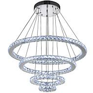 billiga -Cirkelrunda Hängande lampor Glödande Elektropläterad Metall Kristall, LED 110-120V / 220-240V Kall vit LED-ljuskälla ingår / Integrerad LED