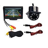 billiga Parkeringskamera för bil-BYNCG WG4.3T-4LED 4.3 tum TFT-LCD 480TVL 480p 1/4-tums färg CMOS Kabel 120 grader 1 pcs 120 ° 4.3 tum Bakre kamera / Car Reversing Monitor / Bil baksidesats Vattentät / LED-indikator / Nattseende för