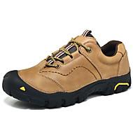 baratos Sapatos Masculinos-Homens Sapatos de couro Pele Napa Inverno Vintage / Casual Oxfords Manter Quente Preto / Café / Khaki