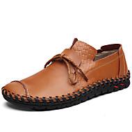 baratos Sapatos Masculinos-Homens Mocassim Pele Primavera Casual / Formais Mocassins e Slip-Ons Massgem Preto / Marron
