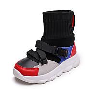 baratos Sapatos de Menino-Para Meninos Sapatos Couro Ecológico Primavera & Outono / Primavera Verão Conforto / Botas da Moda Botas Caminhada Presilha / Combinação para Infantil Branco / Vermelho / Azul / Botas Curtas / Ankle