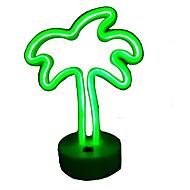billige Lamper-1pc Kokosnøttre LED Night Light Grønn AA batterier drevet Oppladbar <5 V