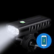 preiswerte -Fahrradlicht LED Radlichter Radsport Wasserfest, Schnellspanner, Langlebig Lithium-Ionen-Akku 1000 lm Weiß Camping / Wandern / Erkundungen / Radsport