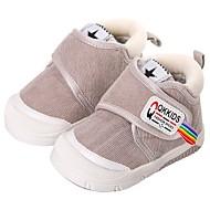 baratos Sapatos de Menino-Para Meninos / Para Meninas Sapatos Camurça Inverno Conforto / Primeiros Passos Botas para Bébé Cinzento / Marron / Rosa claro