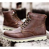 baratos Sapatos Masculinos-Homens Sapatos Confortáveis Microfibra Inverno Botas Botas Cano Médio Preto / Cinzento / Marron