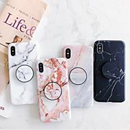 billiga Mobil cases & Skärmskydd-fodral Till Apple iPhone XR / iPhone XS Max med stativ / IMD / Frostat Skal Marmor Mjukt TPU för iPhone XS / iPhone XR / iPhone XS Max