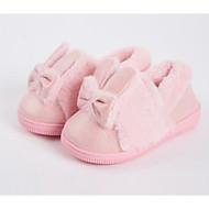 Χαμηλού Κόστους Παιδικά Slipper-Κοριτσίστικα Παπούτσια Σουέτ Χειμώνας Ανατομικό Παντόφλες & flip-flops Φιόγκος για Παιδιά / Νήπιο Ροζ / Πράσινο Ανοικτό