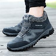 baratos Sapatos Masculinos-Homens Sapatos Confortáveis Lona Inverno Esportivo Tênis Aventura Manter Quente Preto / Cinzento Escuro