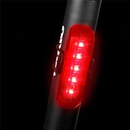 preiswerte -Fahrradrücklicht LED Radlichter Radsport Wasserfest, Schnellspanner, Leicht Wiederaufladbare Li-Ion Batterie 80 lm Rot Polizei / Militär / Radsport