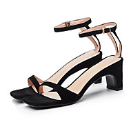 baratos Sapatos Femininos-Mulheres Sapatos Confortáveis Camurça Verão Sandálias Salto Agulha Preto / Marron / Amêndoa