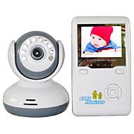 """billiga Babymonitorer-baby monitor 9020d 380tvl 1/4 """"cmos 70 ° nattsynsintervall 2-3 m 2.4ghz 2,4"""" tft lcd"""