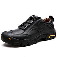 baratos Sapatos Masculinos-Homens Sapatos de couro Pele Inverno Vintage / Casual Tênis Manter Quente Preto / Marron