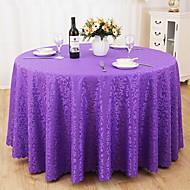 billige Duker-Moderne 100g / m2 Polyester Strik Stretch Rund Duge Ensfarget Borddekorasjoner 1 pcs