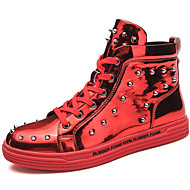 abordables Baskets pour Homme-Homme Chaussures de confort Tricot Printemps été / Automne hiver Décontracté / British Basket Garder au chaud Noir / Argent / Rouge