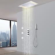 billiga Duschkranar-Duschkran - Nutida Krom Mässing Ventil Bath Shower Mixer Taps / Tre Handtag Fem hål