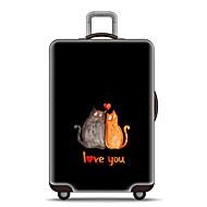 Χαμηλού Κόστους Τσάντες αποσκευών και ταξιδίου-Πολυεστέρας Χαρακτήρας Κάλυμμα αποσκευών Φερμουάρ Χαρακτήρας Μαύρο