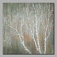 billiga Blom-/växtmålningar-Hang målad oljemålning HANDMÅLAD - Abstrakt / Blommig / Botanisk Samtida / Moderna Inkludera innerram / Sträckt kanfas