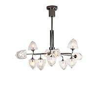 billiga Belysning-ZHISHU geometriska Ljuskronor Glödande Målad Finishes Metall Glas Ny Design 110-120V / 220-240V Varmt vit / Vit