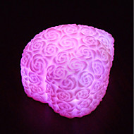 billige Lamper-led hjerte form rose blomst natt lys regnbue 7 farge skifte lampe elsker gave